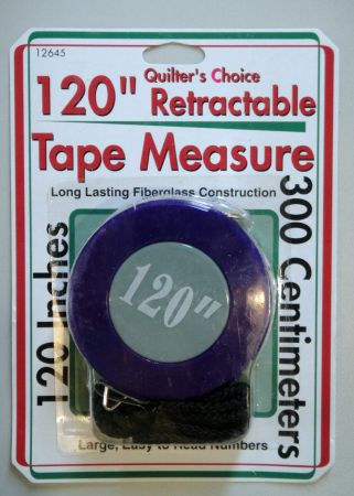 "retractable 120"" tape measure"