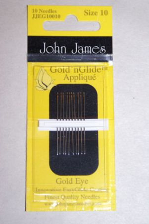 John James Gold'n Glide Needles - Size 10