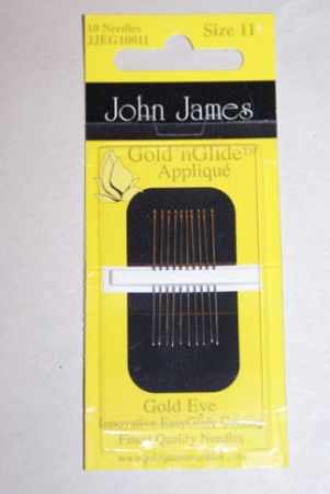 John James Goldn Glide Needles - Size 11